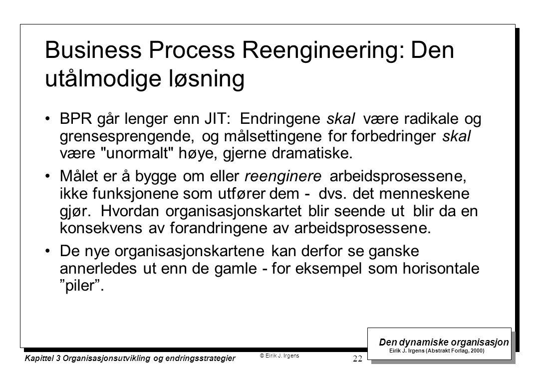 Business Process Reengineering: Den utålmodige løsning