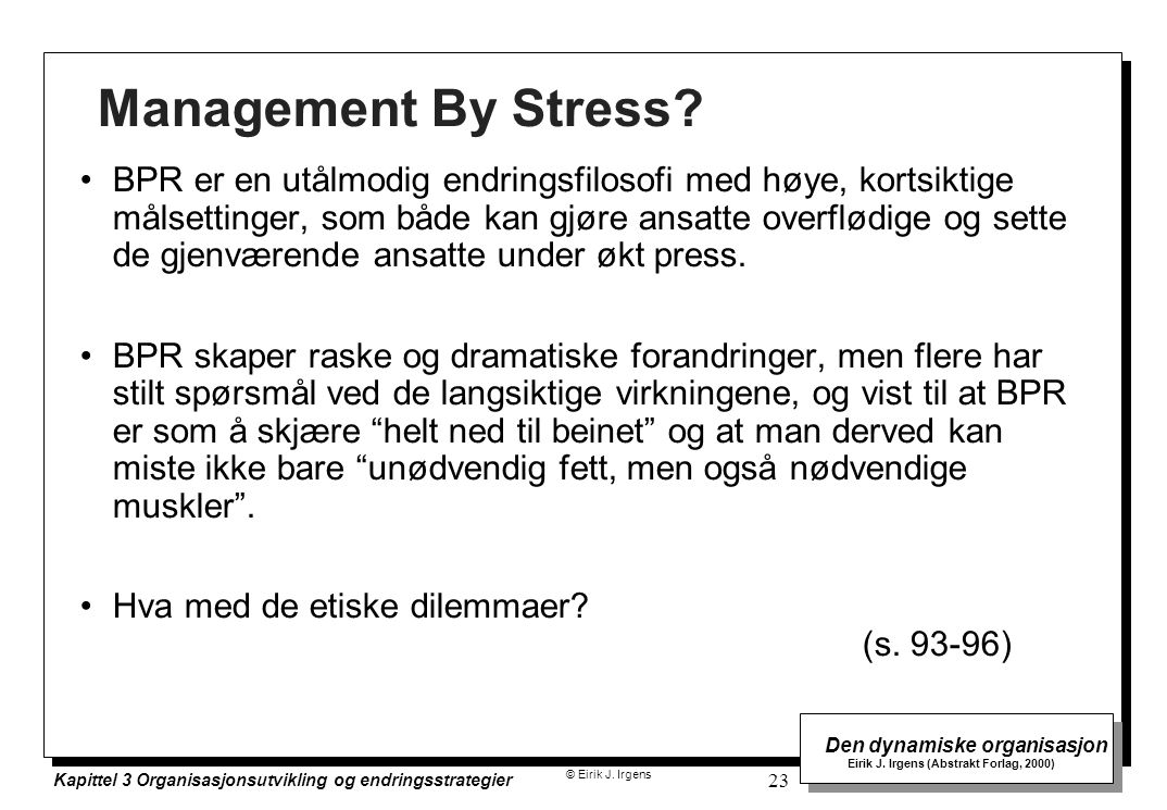 Management By Stress