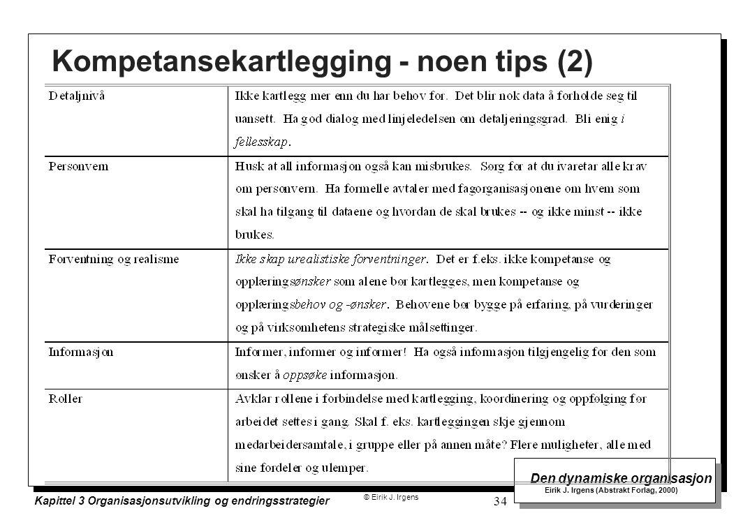 Kompetansekartlegging - noen tips (2)