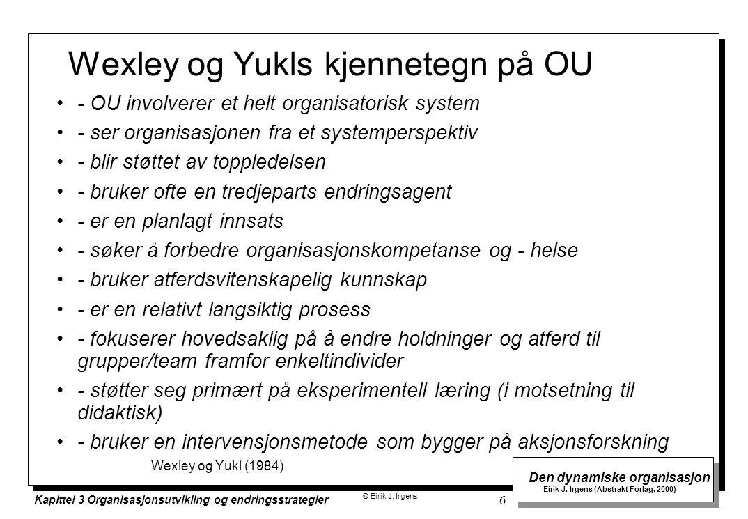 Wexley og Yukls kjennetegn på OU