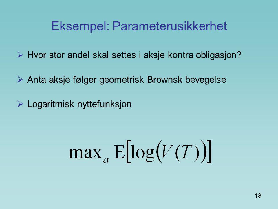 Eksempel: Parameterusikkerhet