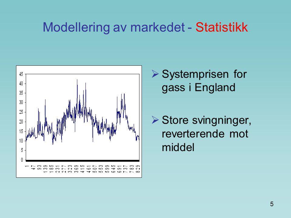 Modellering av markedet - Statistikk