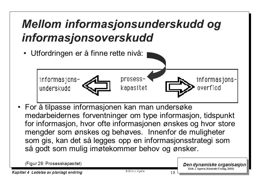 Mellom informasjonsunderskudd og informasjonsoverskudd