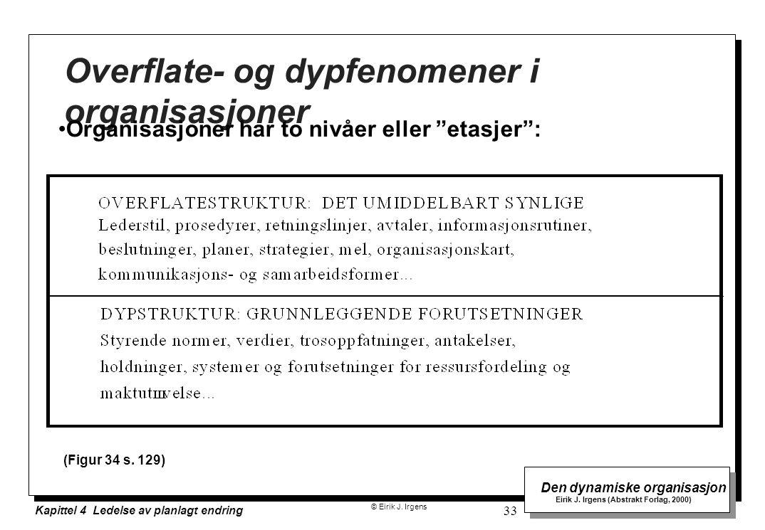 Overflate- og dypfenomener i organisasjoner