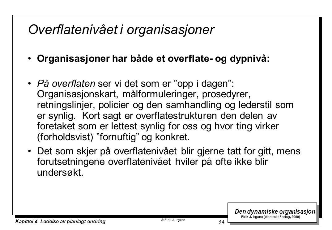 Overflatenivået i organisasjoner