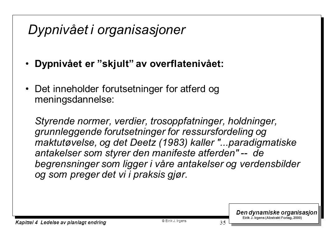 Dypnivået i organisasjoner