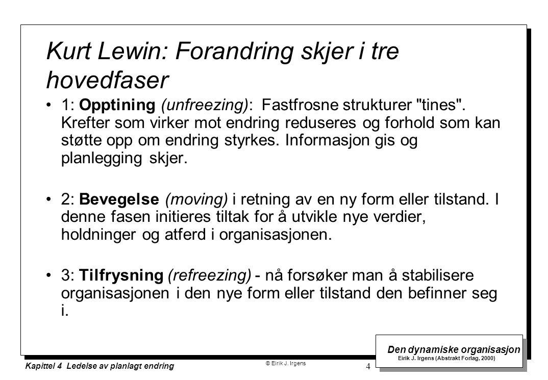 Kurt Lewin: Forandring skjer i tre hovedfaser