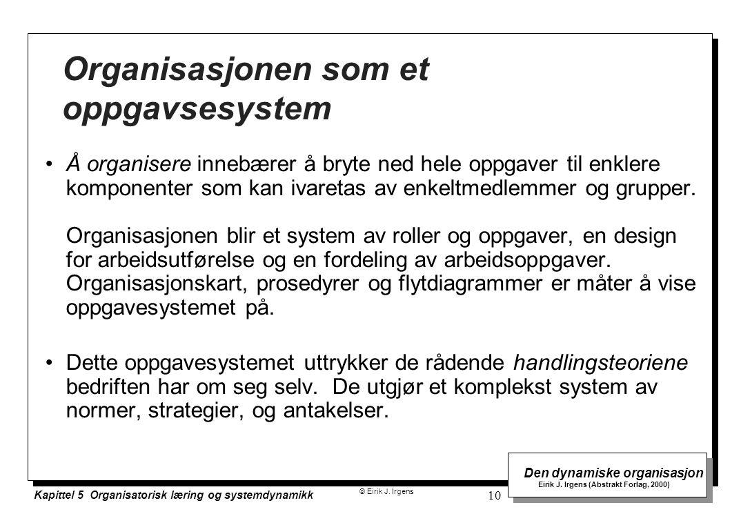Organisasjonen som et oppgavsesystem