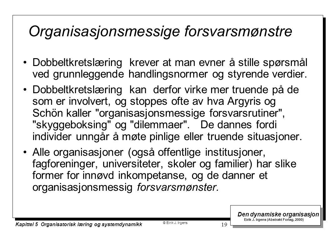 Organisasjonsmessige forsvarsmønstre