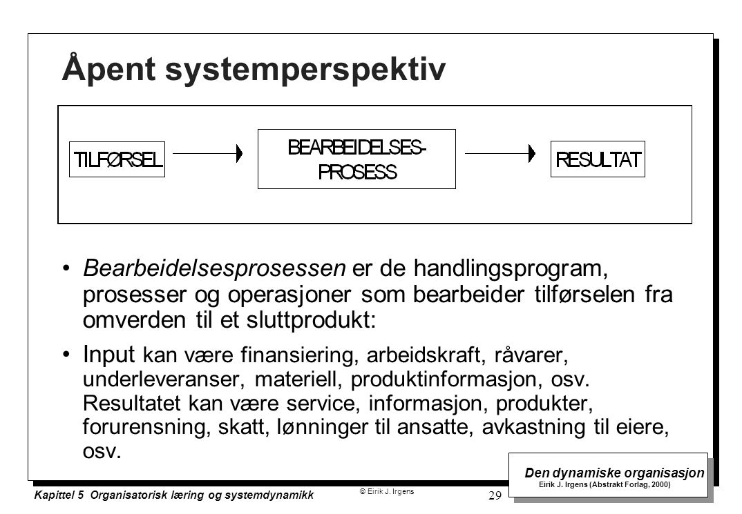 Åpent systemperspektiv