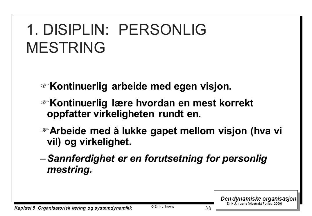 1. DISIPLIN: PERSONLIG MESTRING