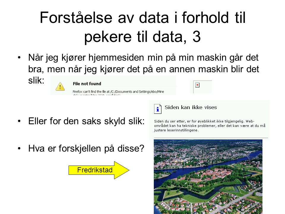 Forståelse av data i forhold til pekere til data, 3