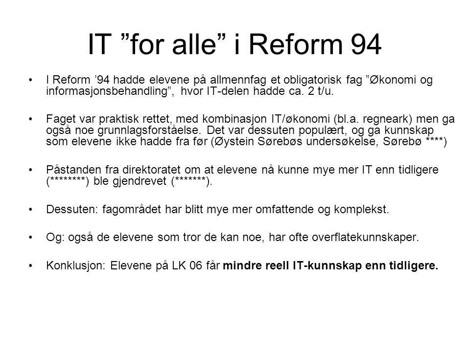 IT for alle i Reform 94