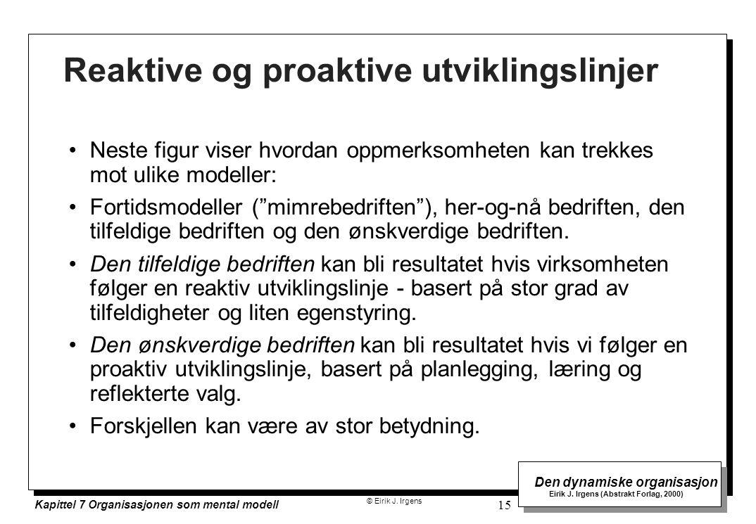 Reaktive og proaktive utviklingslinjer