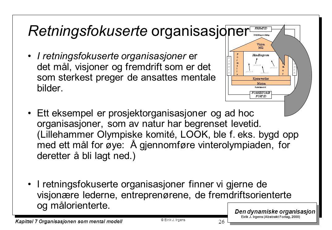Retningsfokuserte organisasjoner