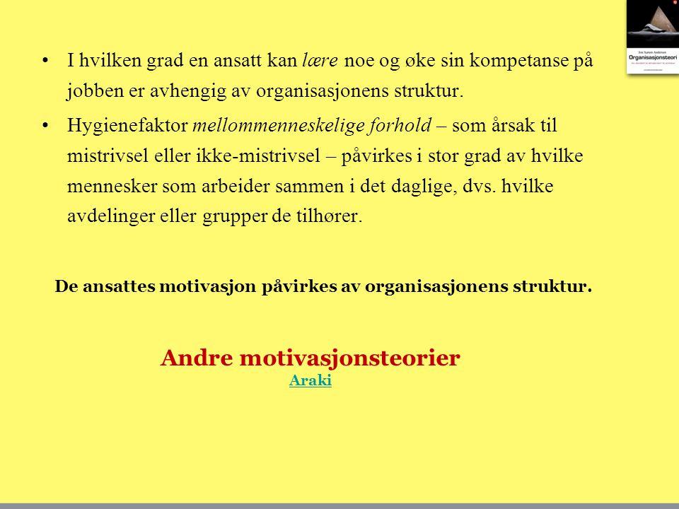 Andre motivasjonsteorier