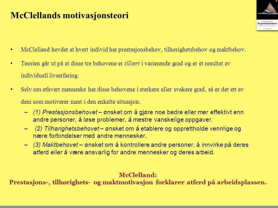 McClellands motivasjonsteori