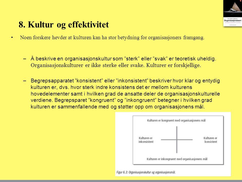 8. Kultur og effektivitet