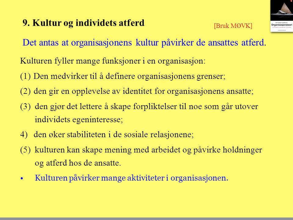 9. Kultur og individets atferd