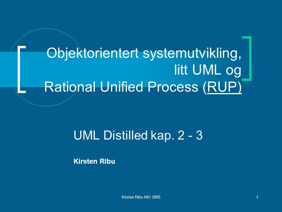 UML Distilled kap. 2 - 3 Kirsten Ribu