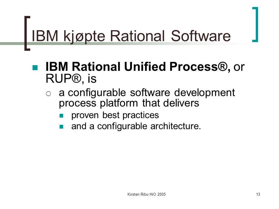 IBM kjøpte Rational Software