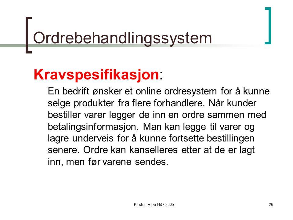 Ordrebehandlingssystem