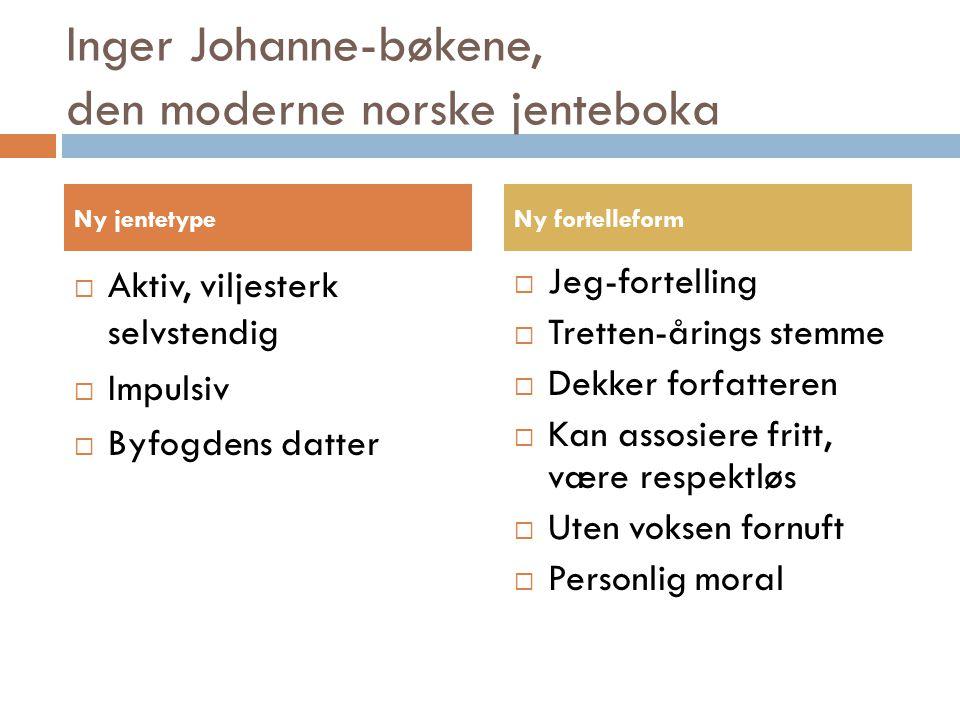Inger Johanne-bøkene, den moderne norske jenteboka