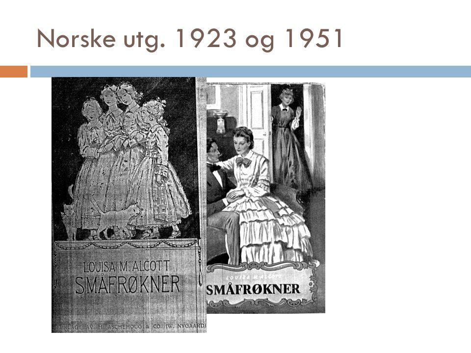 Norske utg. 1923 og 1951