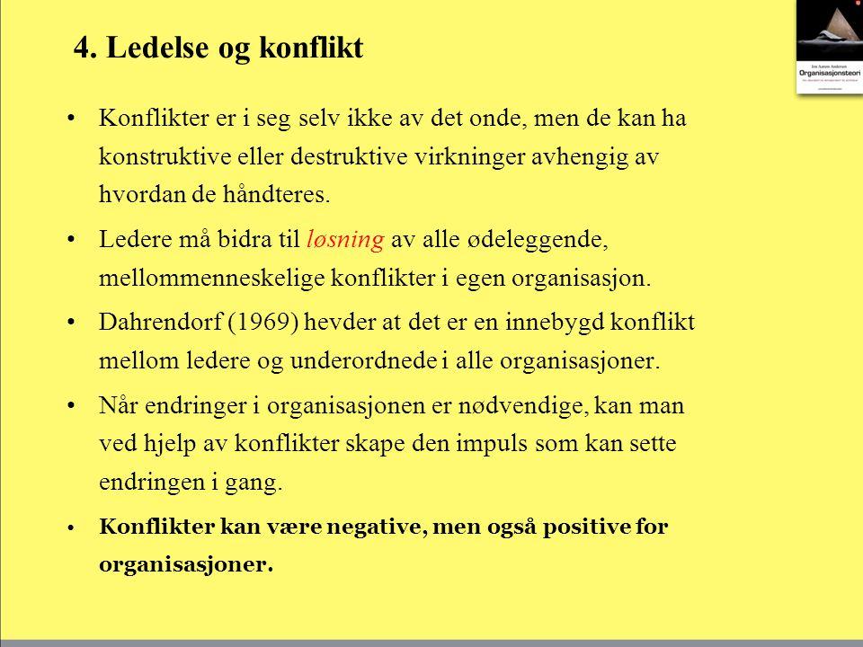 4. Ledelse og konflikt