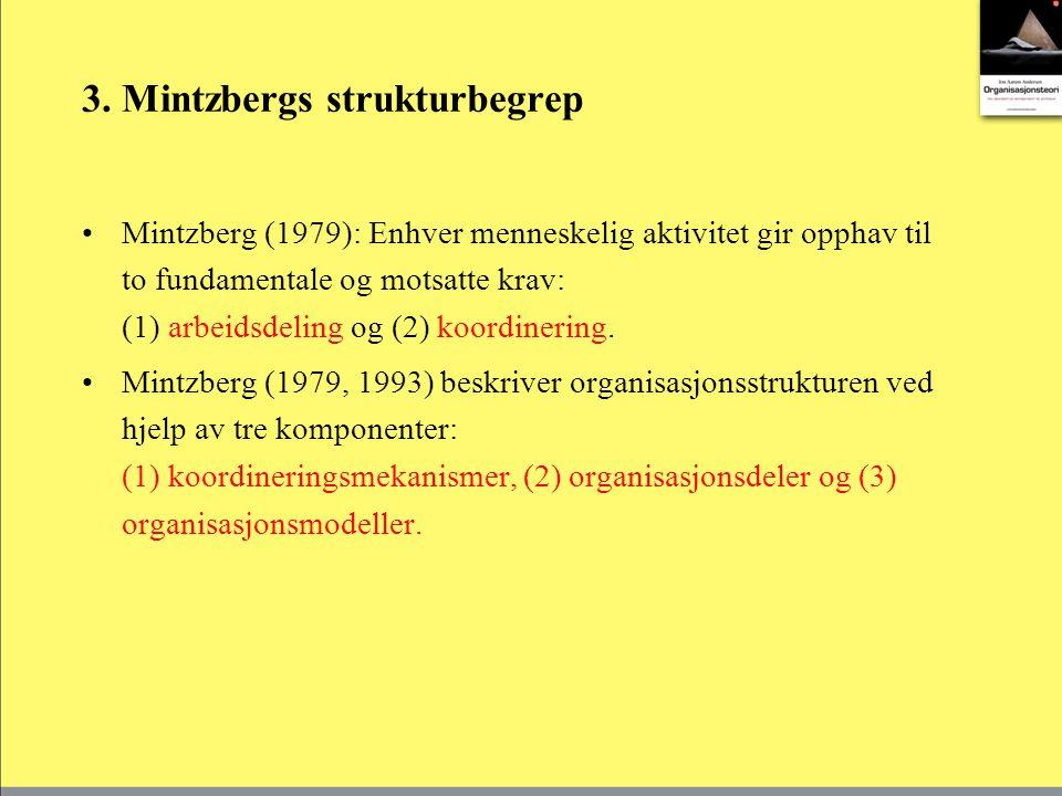 3. Mintzbergs strukturbegrep