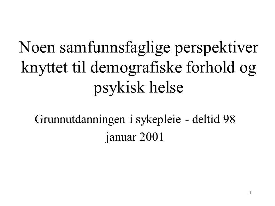 Grunnutdanningen i sykepleie - deltid 98 januar 2001