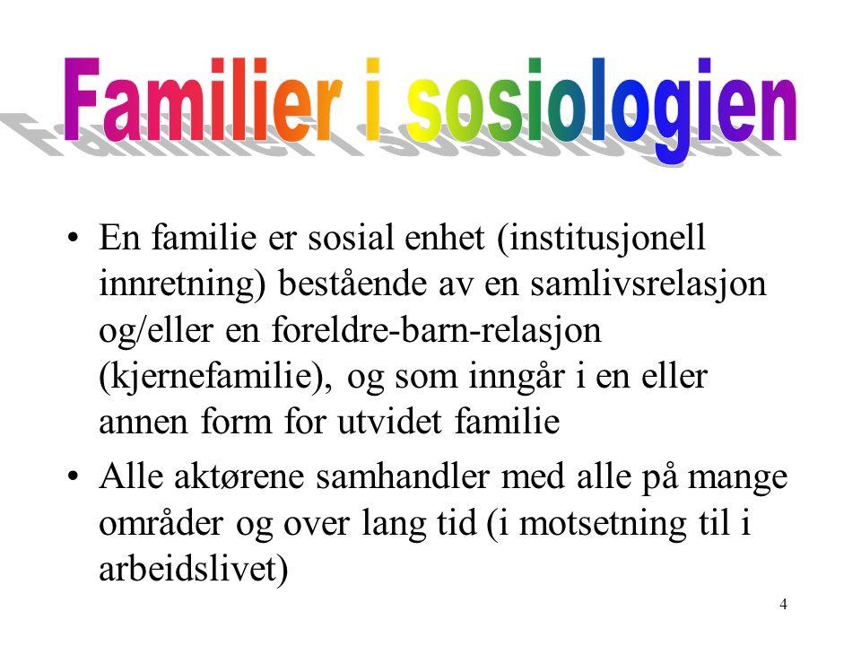 Familier i sosiologien