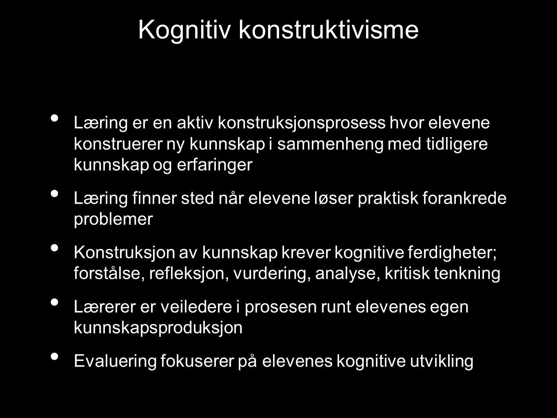 Kognitiv konstruktivisme