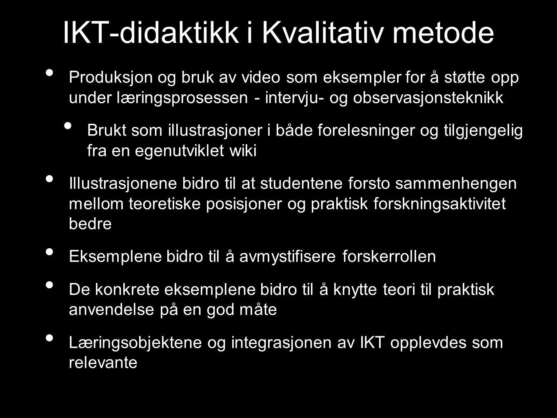 IKT-didaktikk i Kvalitativ metode