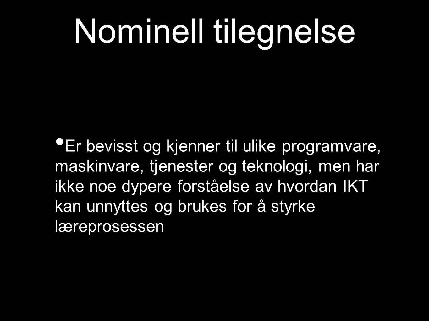 Nominell tilegnelse