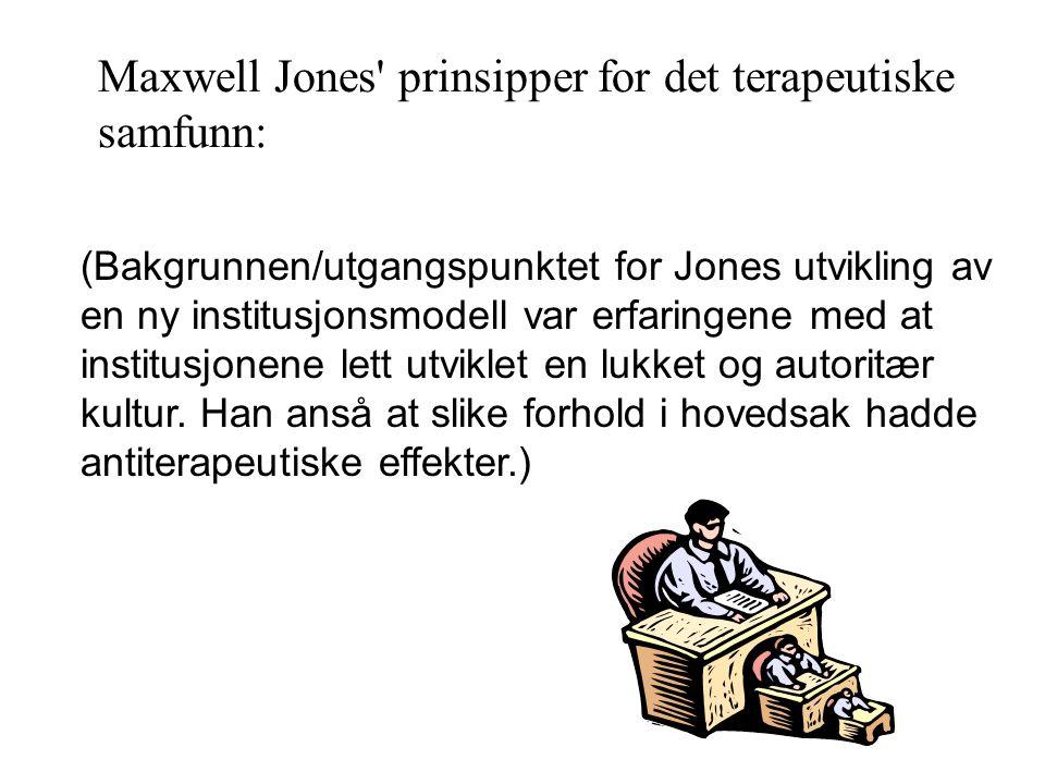 Maxwell Jones prinsipper for det terapeutiske samfunn: