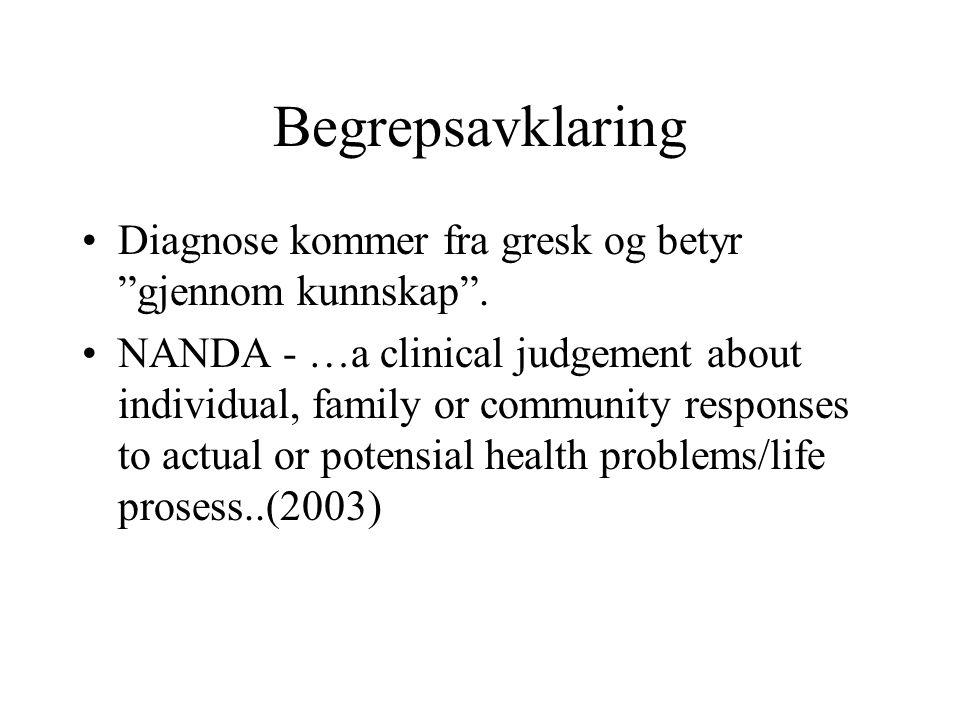 Begrepsavklaring Diagnose kommer fra gresk og betyr gjennom kunnskap .