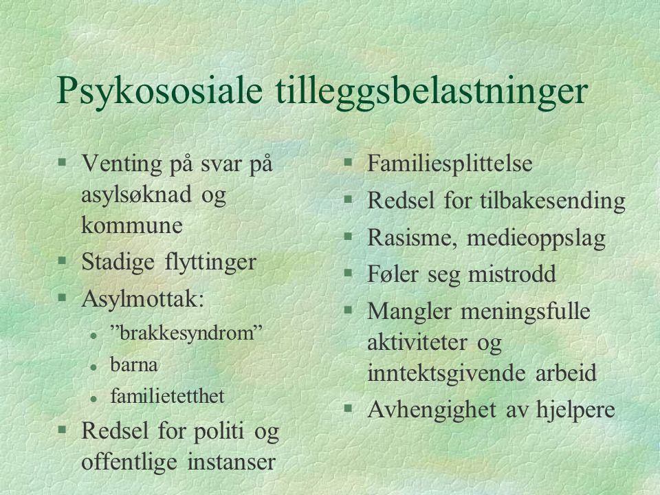 Psykososiale tilleggsbelastninger