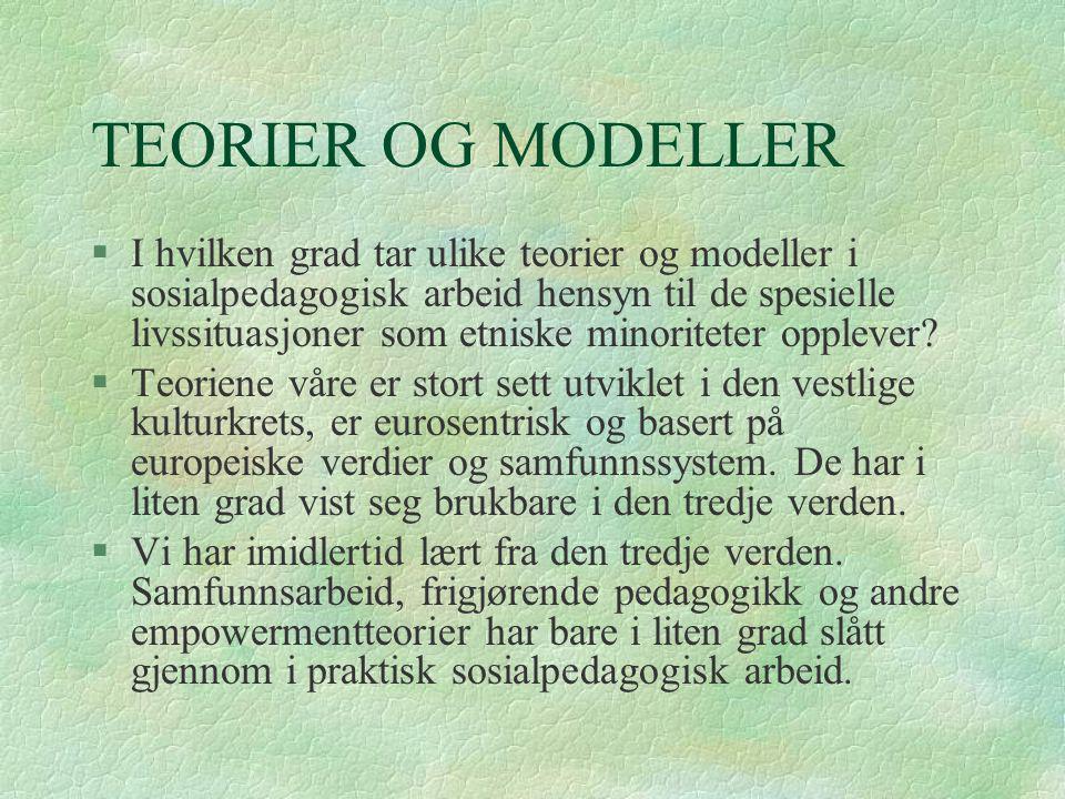 TEORIER OG MODELLER