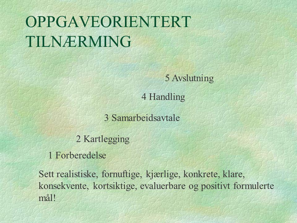 OPPGAVEORIENTERT TILNÆRMING