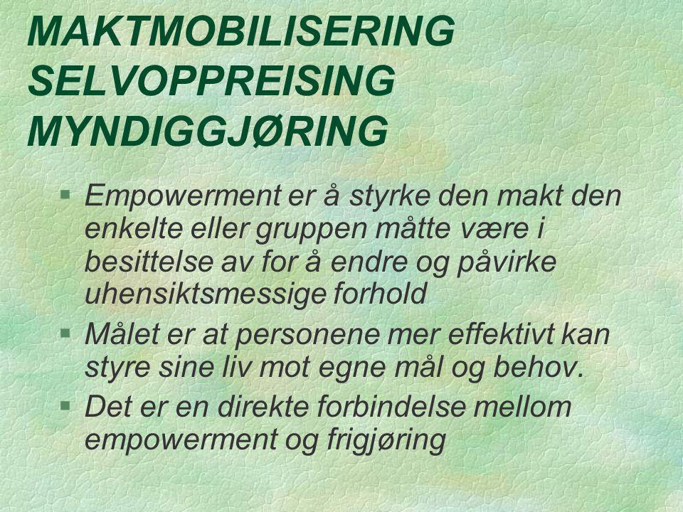 MAKTMOBILISERING SELVOPPREISING MYNDIGGJØRING