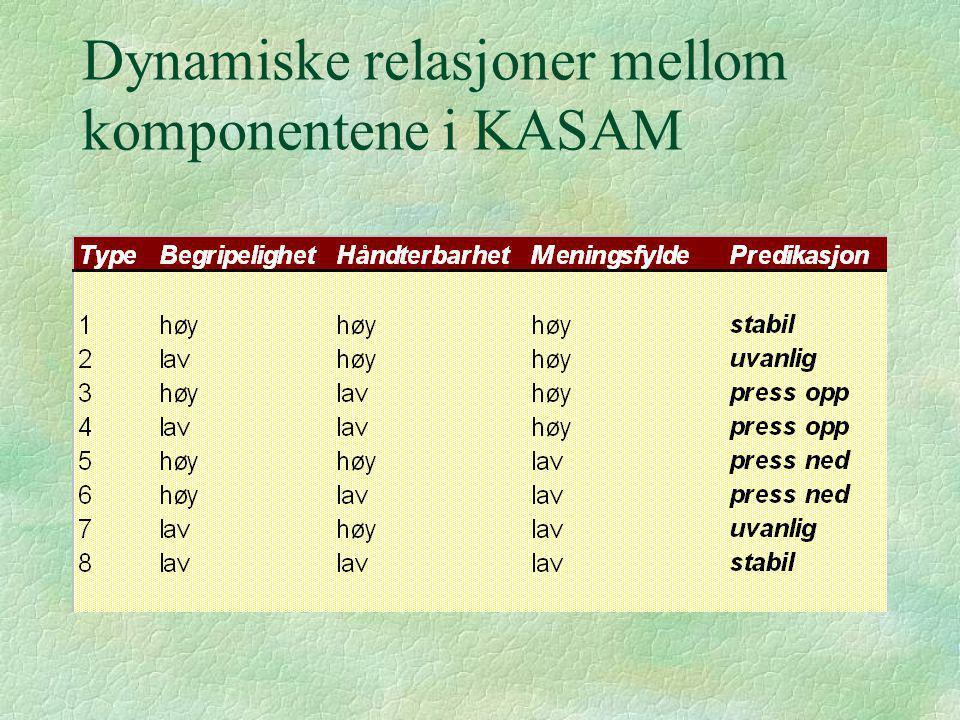Dynamiske relasjoner mellom komponentene i KASAM