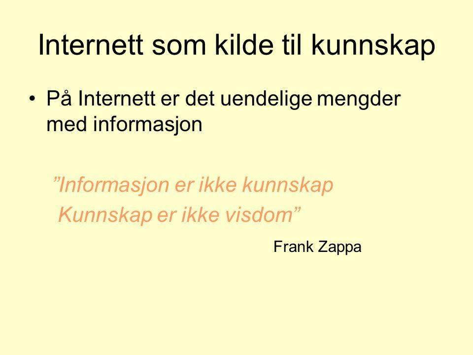 Internett som kilde til kunnskap