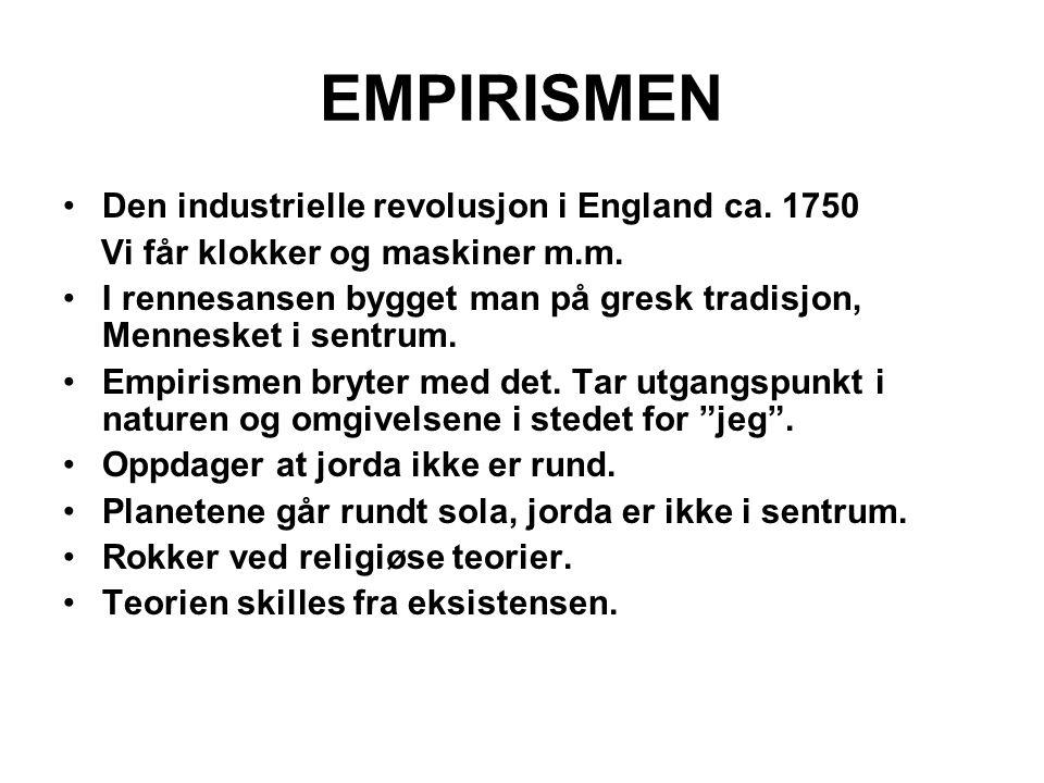 EMPIRISMEN Den industrielle revolusjon i England ca. 1750