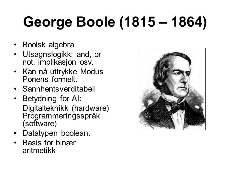 George Boole (1815 – 1864) Boolsk algebra
