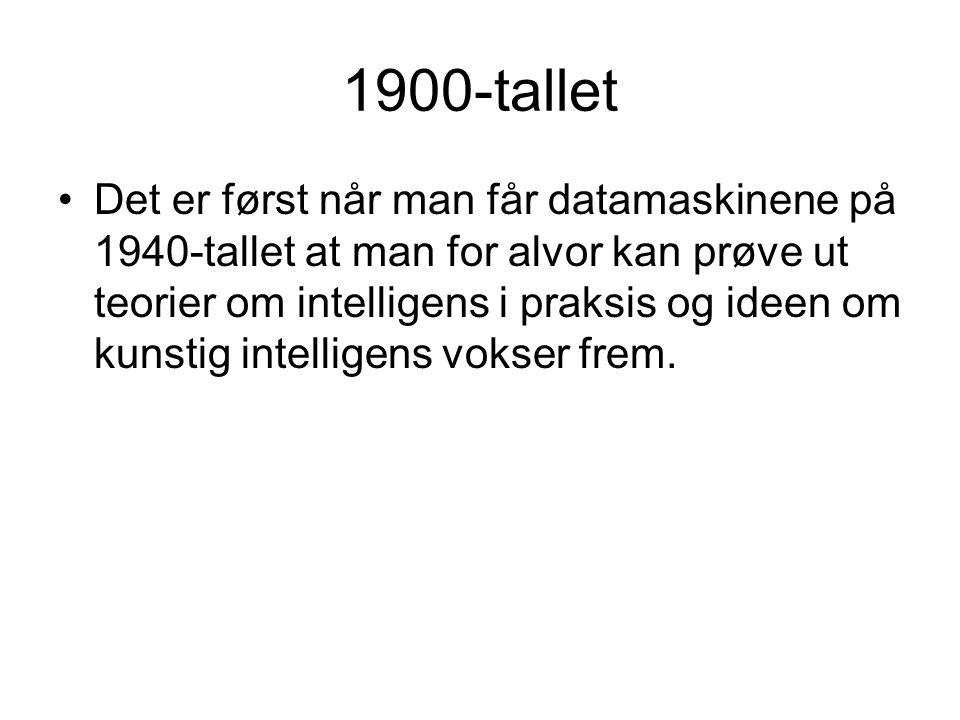 1900-tallet