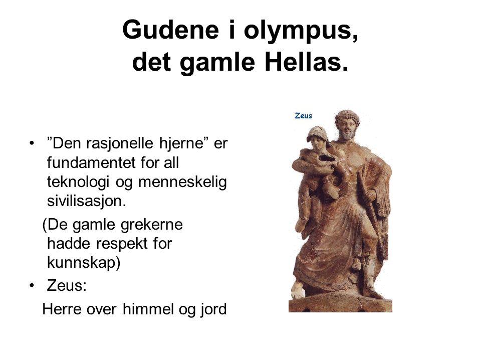 Gudene i olympus, det gamle Hellas.