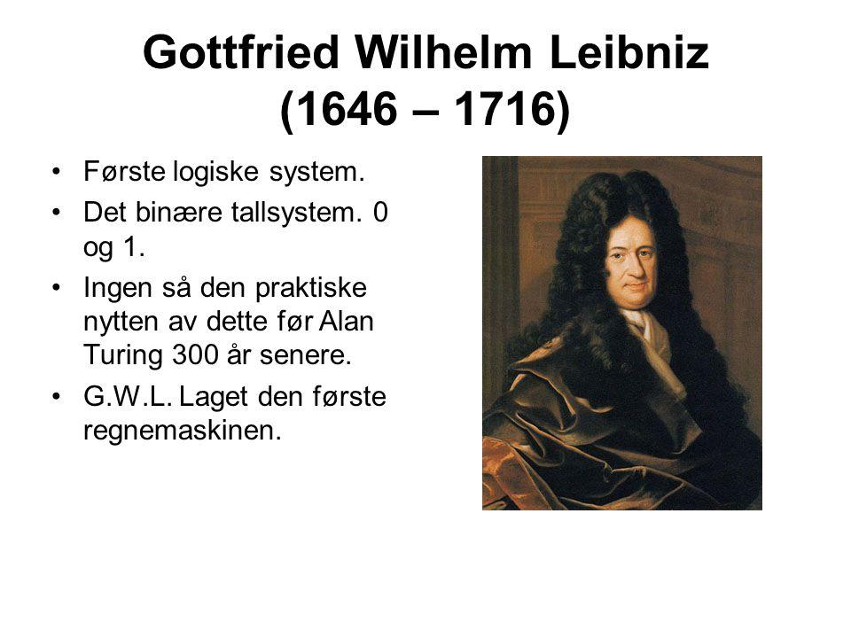 Gottfried Wilhelm Leibniz (1646 – 1716)