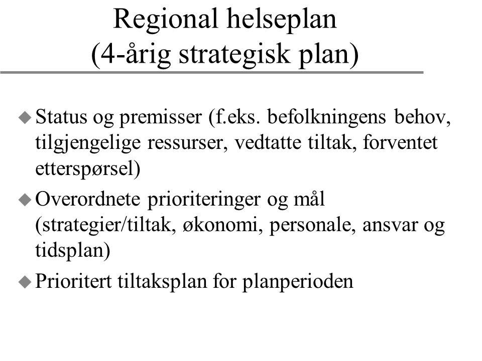 Regional helseplan (4-årig strategisk plan)