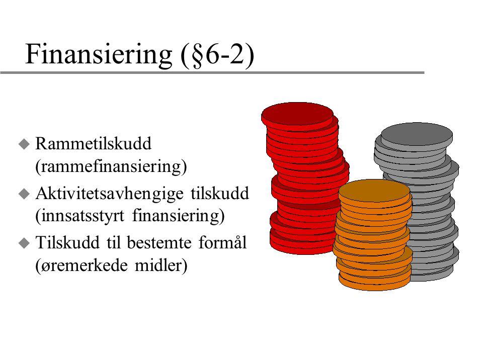 Finansiering (§6-2) Rammetilskudd (rammefinansiering)